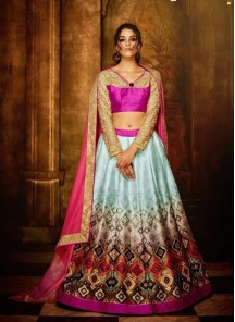 Glorious Banglori Silk Anarkali Lehenga