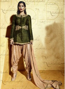 Glorious  Bhagalpuri Silk Patiala Suit