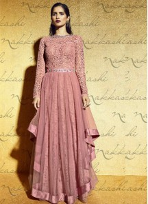 Glorious  net  Anarkali Suit