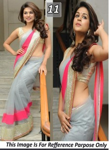 Glorious Embroidered Georgette Designer Saree