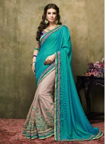 Glorious Embroidered Net Designer Saree