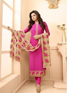 Glorious Georgette Embroidered Anarkali Suit