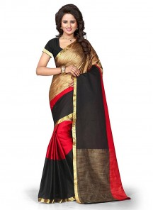 Glowing Multi Cotton Silk Printed Casual Saree