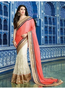 Glowing thread Work Designer Saree
