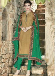 Gratifying  Cotton  Churidar Suit