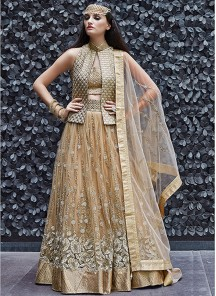 Gratifying Nrt and georgette anarkali lehenga choli