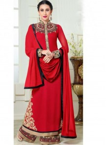 Gratifying Georgette Embroidered Anarkali Suit