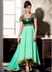 Beautiful Georgette Embroidered Anarkali Suit