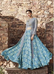 Gratifying Nrt And Georgette Anarkali Lehenga Style Gown