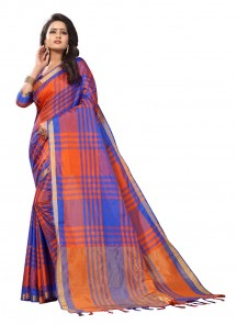 Groovy Cotton Silk Multi Color Printed Casual Saree