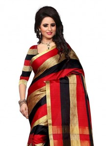 Haute Multi Color Cotton Silk Printed Casual Saree