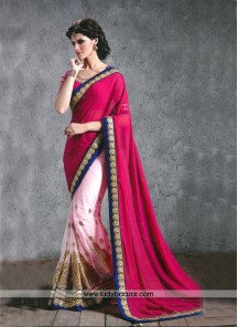 Heavenly Georgette thread Work Designer Saree