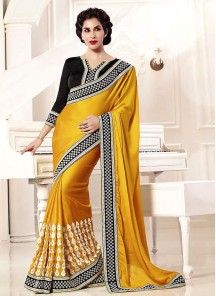 Heavenly Yellow Designer Saree