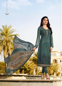 Hypnotizing Green Embroidery Work Salwar Suit