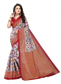 Ideal Multi Bhagalpuri Silk Printed Saree