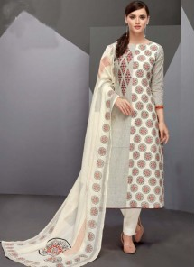 Ideal Multi Colour Print Work Designer Straight Suit