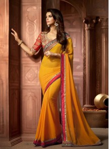 Imperial Patch Border Work Designer Saree