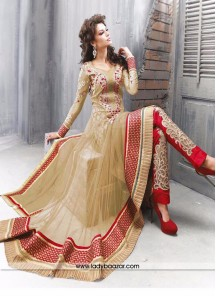 Innovative Embroidered Work Anarkali Salwar Kameezeez