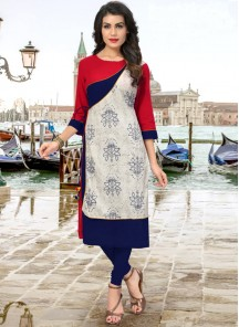 Integral Rayon Multi color Party Wear Kurti
