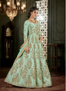 Irresistible Mullburry Silk Floor Length Anarkali Suit