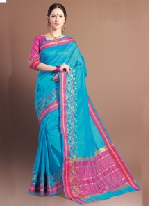 Jacquard Woven Design Multi color Saree
