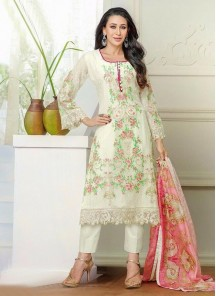 Karishma Kapoor print work  Georgette straight suit