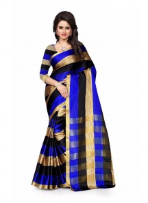 Lively Cotton Silk Multi Color Casual Saree