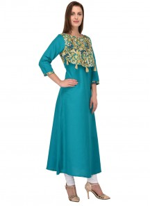 Magnificent Rayon Fabric Party Wear Kurti