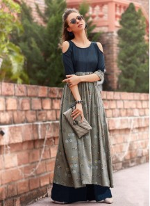 Majestic Cotton Reyon Printed Long Dress