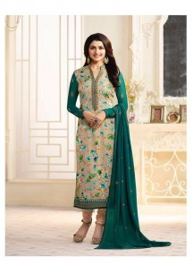 Marvelous Brasso Embroidered Work Designer Straight Suit