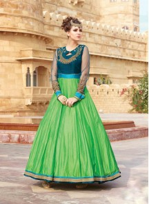 Mesmeric Embrodired and Hand Work Chennai Silk Designer Gown
