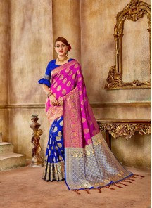 Modest Weaving Banarasi Silk Designer Traditional Saree
