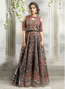 Multi Color Cotton Readymade Stich Gown