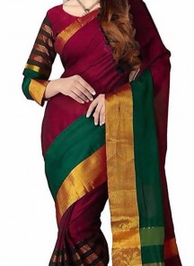 Multi Color Cotton Silk Printed Casual Saree