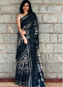Multi Satin Silk Traditional Designer Saree