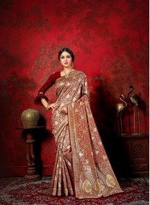 Mystical Banarasi Silk Weaving Traditional Designer Saree