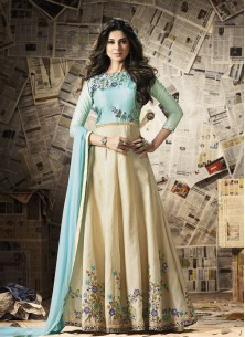 Nice look embrodired work Gown