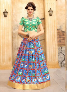 Noble Jacquard Silk Multi Color Lehenga Choli
