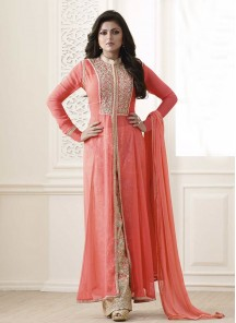 Latest peach colour Palazzo Suit