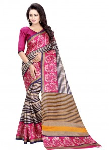 Pink Shaded Bhagalpuri Silk Casual Saree