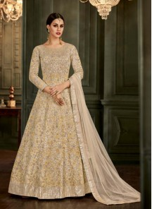 Piquant Resham Work Mullburry Silk Floor Length Anarkali Suit