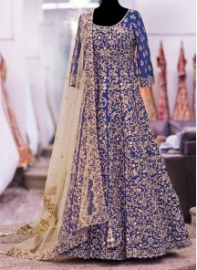 Prepossessing Patch Border Work Anarkali Salwar Kameez