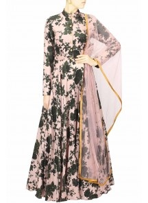 Exclusive Digital Print Flower Gown