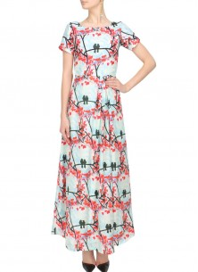 Love Bird Skyblue Digital Print Kurti