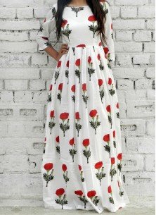 Print  White American Crape Party Wear Kurti