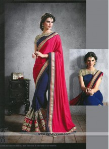 Prodigious Patch Border Work Designer Saree