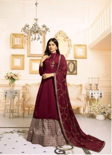 Prominent Georgette Silk Designer Palazzo Suit