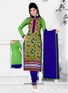 Refreshing Cotton Embroidered Work Salwar Suit