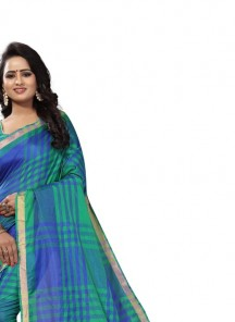Regal Cotton Silk Green Pinted Casual Saree