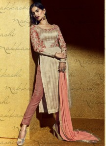 Remarkable Bhagalpuri Silk Embroidered Straight Suit